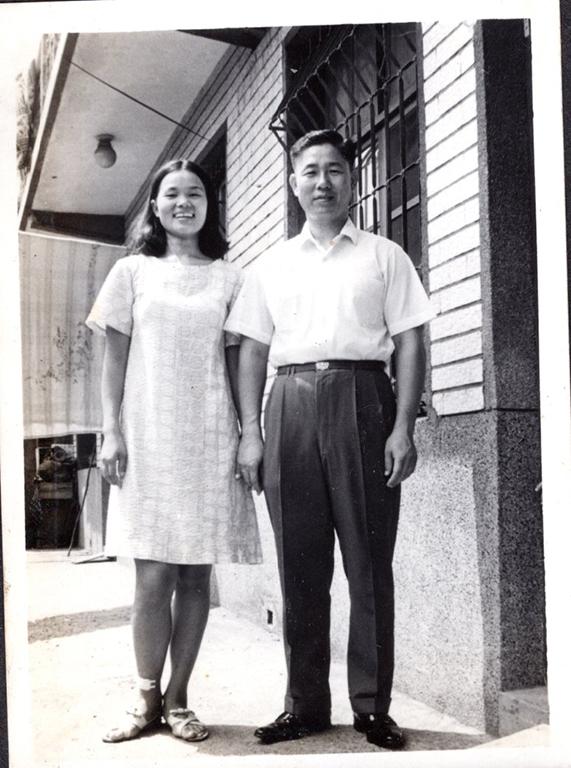 丁洪千鶴 阿姨剛結婚時於新竹